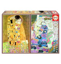 Educa Puzzle Gustav Klimt The Kiss and The Virgin 2x 1000 pcs