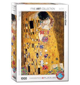 Eurographics Puzzel Gustav Klimt De Kus 1000 stukjes