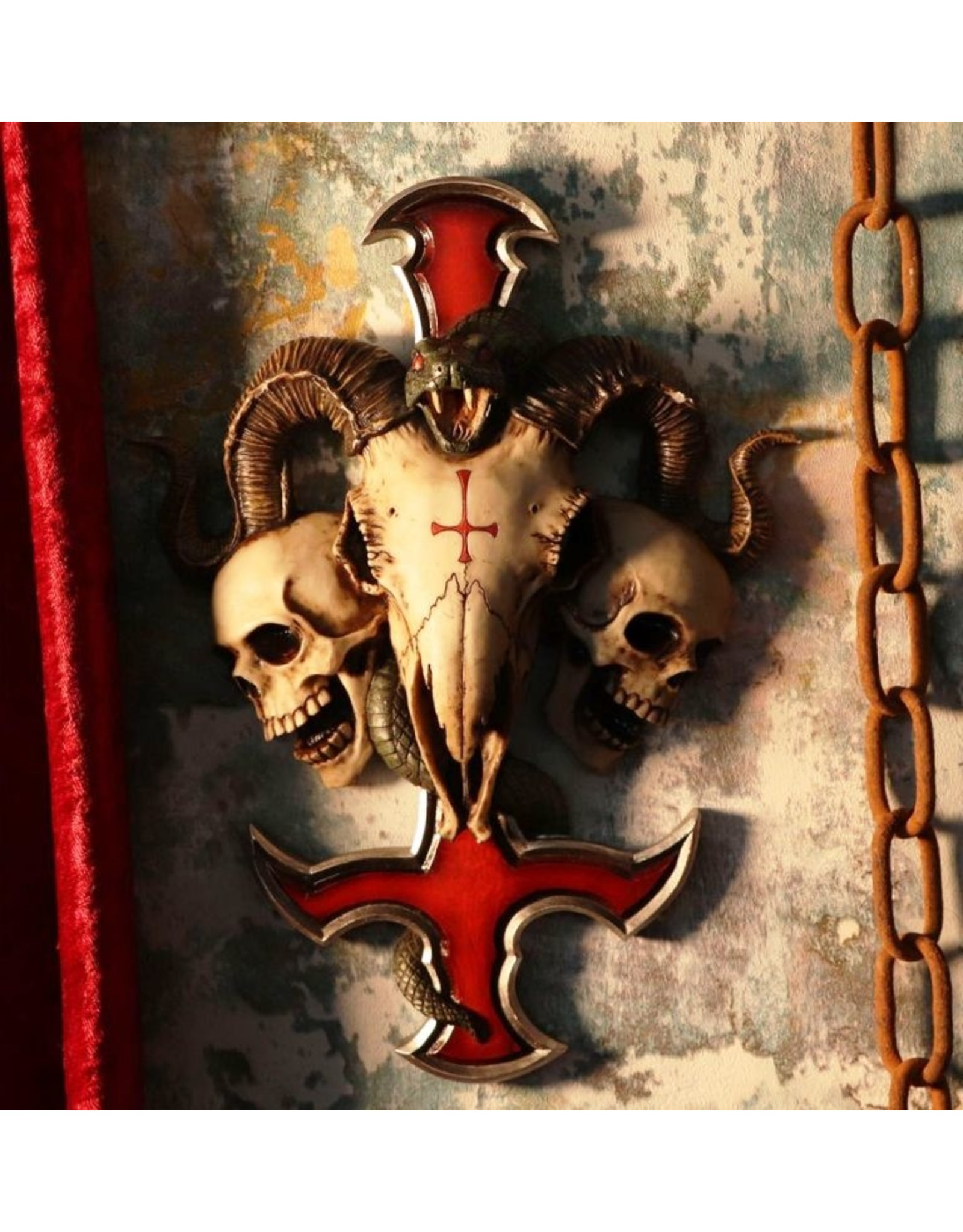 James Ryman bij Nemesis Now Giftware & Lifestyle -Devils Cross Wandplaat 30.5cm James Ryman