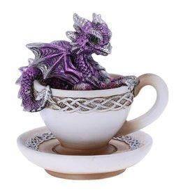 Alator Purple Dracuccino Dragon Teacup Figurine