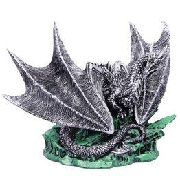 Nemesis Now Dragon Buran figurine - Andy Bill Silver Edition