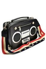 Magic Bags Fantasy tassen en portemonnees - Boombox Radio Handtas met Echte Radio zwart
