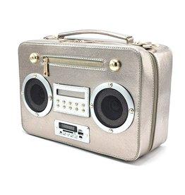 Magic Bags Boombox Radio Handtas met Echte Radio zilver