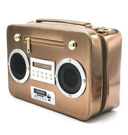 Magic Bags Boombox Radio Handtas met Echte Radio brons