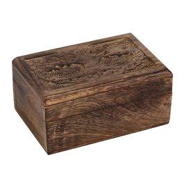 Trukado Houten Levensboom Doosje 12,5cm  x 7,5cm