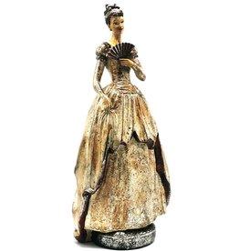 Baroque Collection Victoriaanse Dame met waaier vintage look beeld 41cm