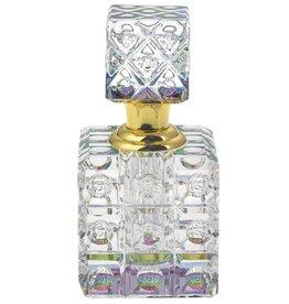 Parfumflesje Luxe Parfumfles van Regenboog glas  in geschenkdoosje