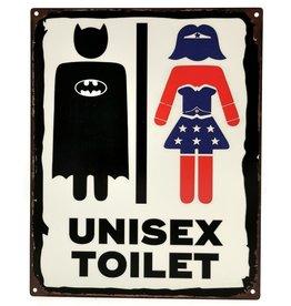 Trukado Unisex Toilet metalen bord