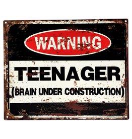 Trukado Brain Under Construction metalen bord