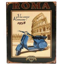 Trukado Vakantie in Rome metalen vintage bord