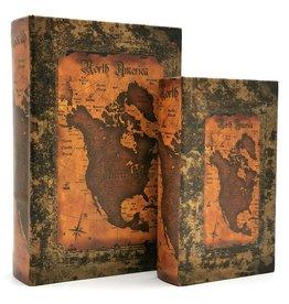 Trukado Opbergboek Antiek look Atlas Noord Amerika
