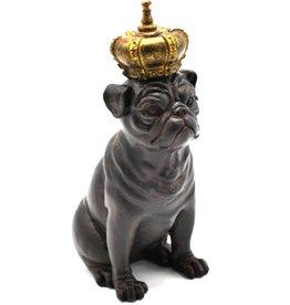Trukado Engelse Bulldog Vintage look beeldje 21cm