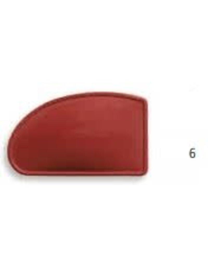 KB MISC 2402 6  lomer rubber rood rechte hoek klein