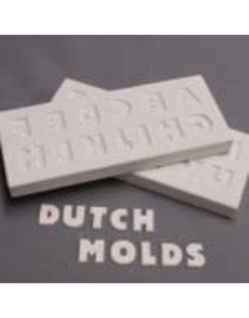 DUTCH MOLDS DM 206 DRUK/GIETVORM LETTERS A TOT M