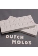 DUTCH MOLDS DM 207 DRUK/GIETVORM LETTERS N TOT Z