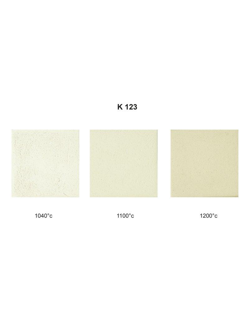 SIBELCO K123 witbakkend creme 25% 0-0.5 mm 1000°-1280°C