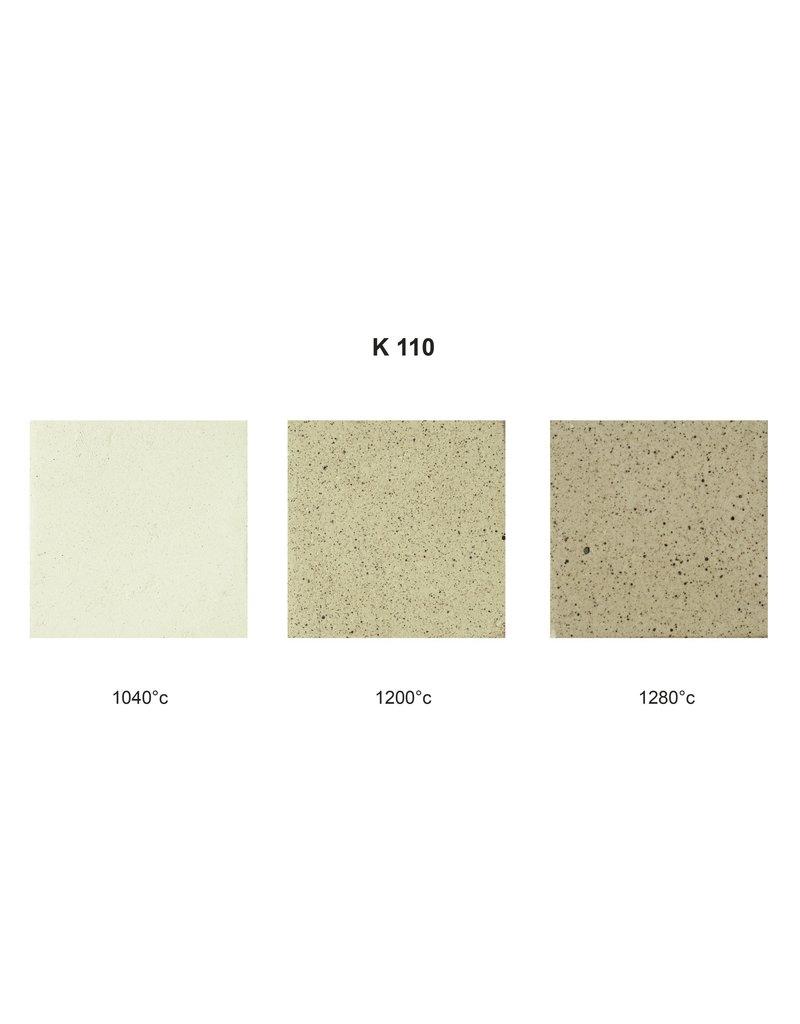 SIBELCO K110 witbakkend met spikkels  25%  0-0,2 mm  1100°-1280°C