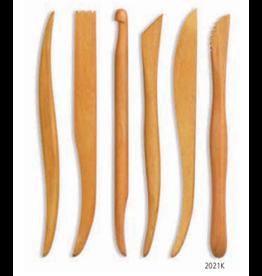 MISC 2021K set boetseerspatels hout  6 stuks 15 cm