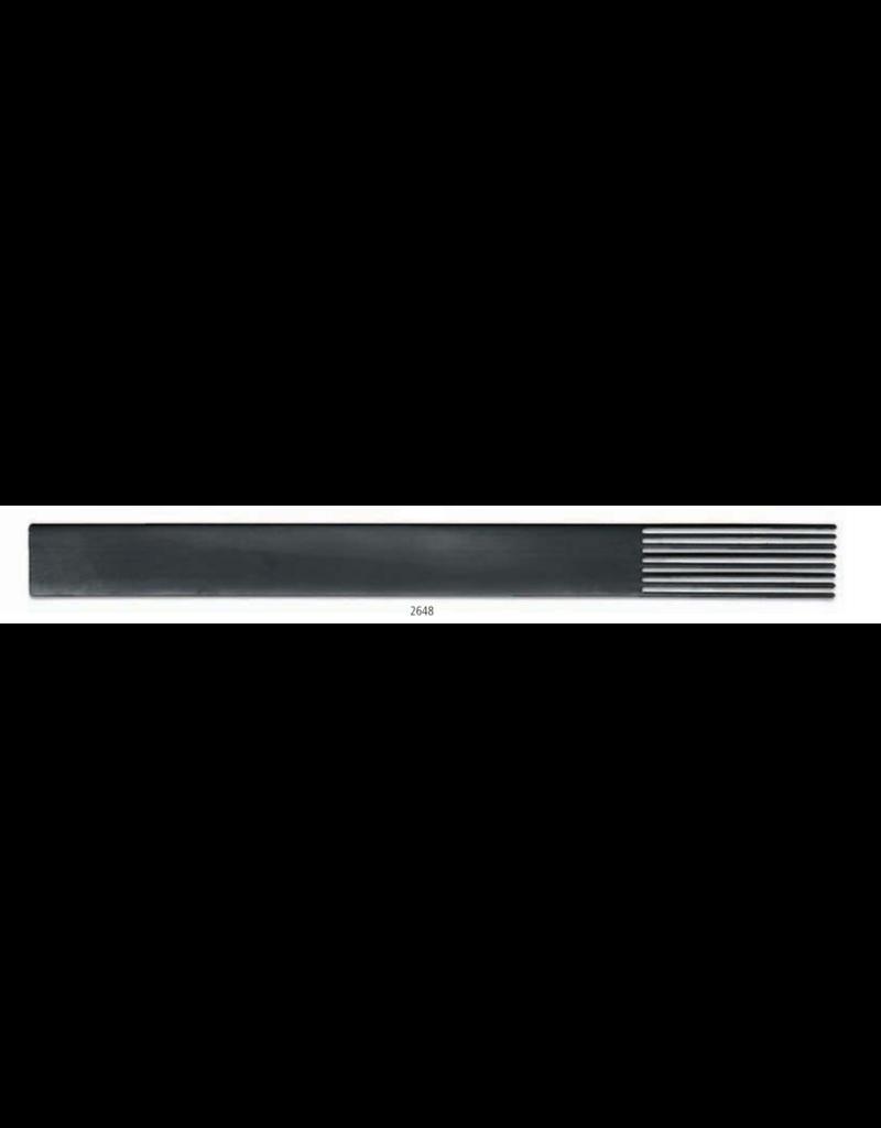 KB MISC 2648 textuurkam staal smalle tanden 21cm x 1.9cm