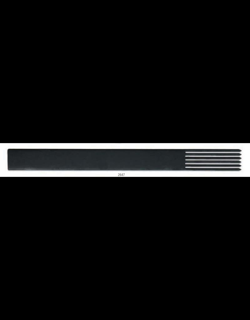 KB MISC 2647 textuurkam staal brede tanden 21cm x 1.9cm
