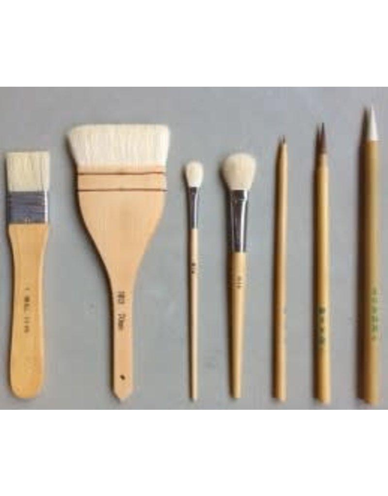 KB HAKE SET penselen  7 stuks fijn-breed