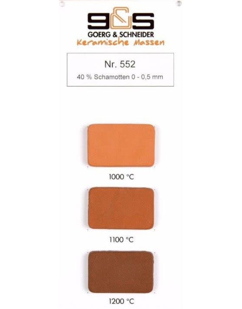 G&S CREATON GS552 roodbakkend 40 %  0-0.5 mm 980°-1220°C