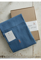 Potters for potters Pottersschort denim middenblauw