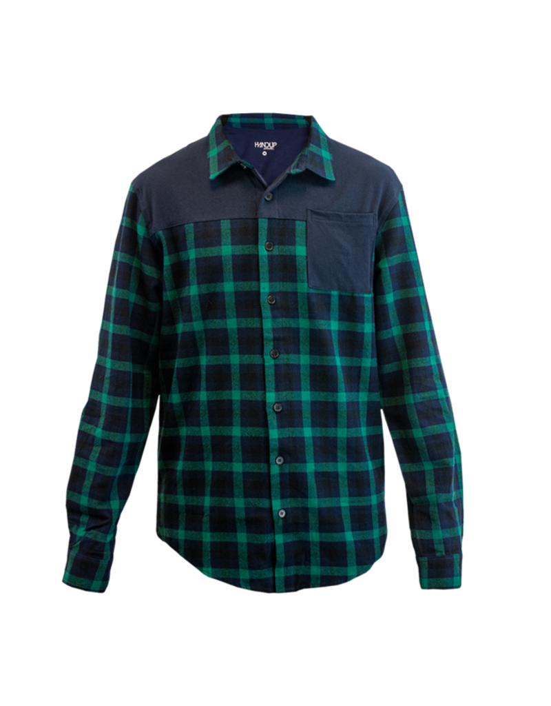 Handup  FlexTop Flannel - Green & Navy