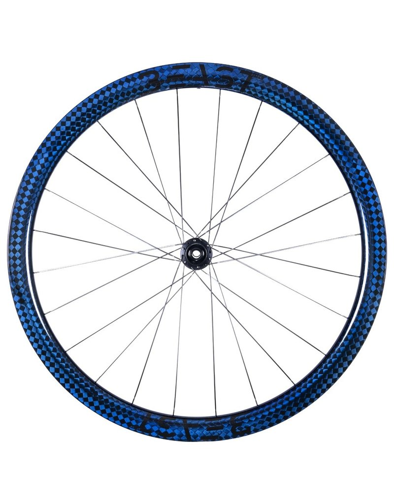 Beast Components  RR40 Carbon Wheelset - Center Lock - FW: 12x100mm | RW: 12x142mm - SQUARE BLUE