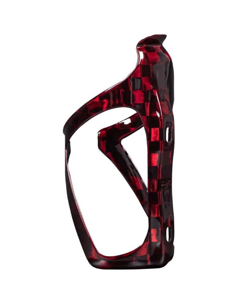 Beast Components  Beast Components Carbon Bottle Cage AMB - SQUARE red