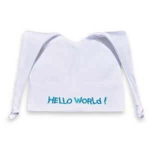 Mutsje Hello World Turquiose