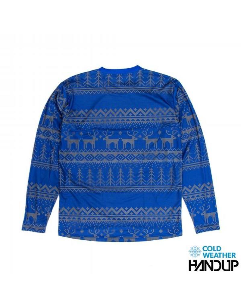Handup Gloves Tacky Sweater Technical Trail Jersey LS - BLUE