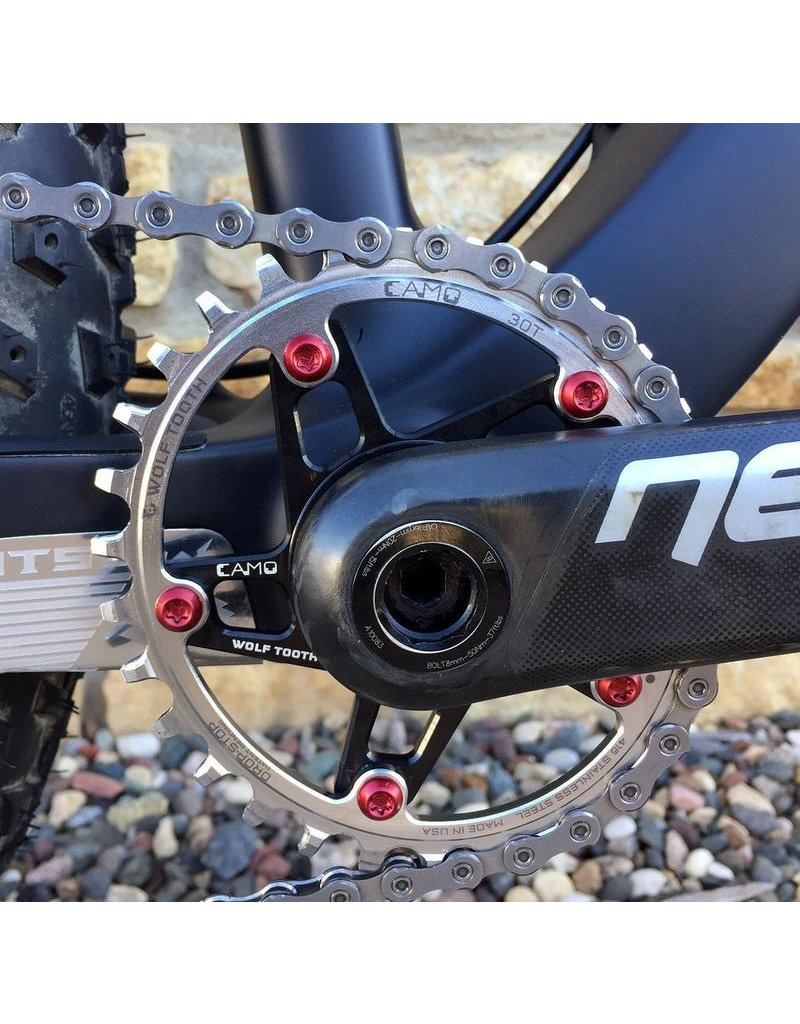 Wolf Tooth Components CAMO Stainless Steel Elliptical Chainring