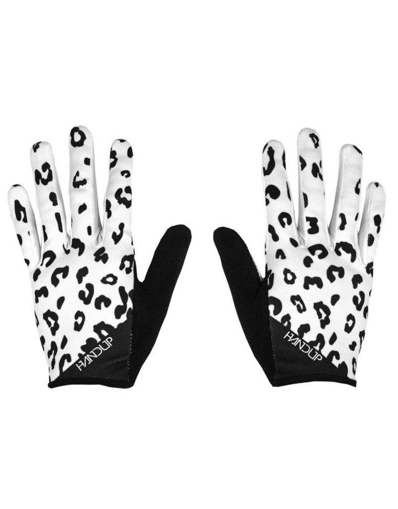 Handup  Gloves - White Leopard