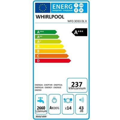 Whirlpool Whirlpool WFO3O33DLX Vaatwasser