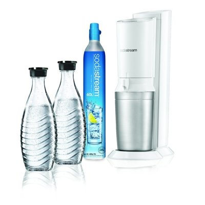 SodaStream Sodastream Crystal White + 2  karaffen + clinder