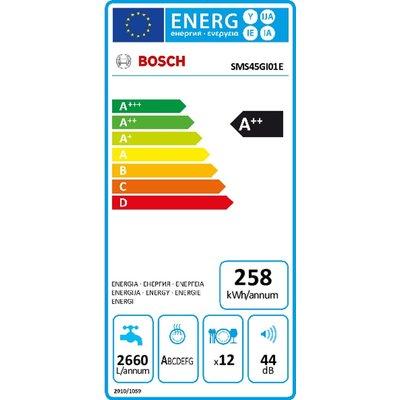 Bosch Bosch SMS45GI01E Vrijstaande vaatwasser A++  IX  Zilver