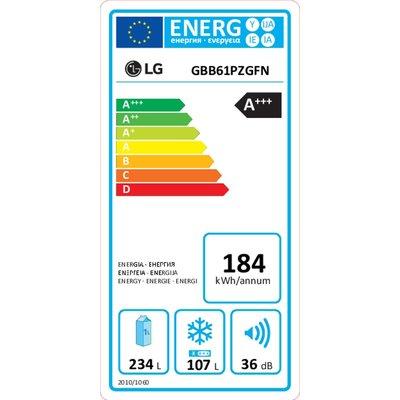 LG LG GBB61SWGFN Koelkast wit