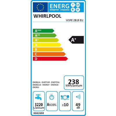 Whirlpool Whirlpool WSFE2B19 Vrijstaande vaatwasser 45 cm