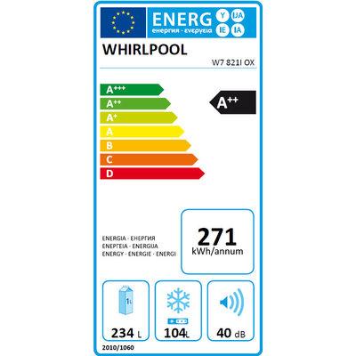 Whirlpool Whirlpool W78210OXZilver Koelkast Inox