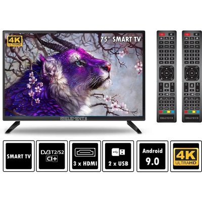 "Elements ElementsELT75DE910B LED televisie Smart, 75"""