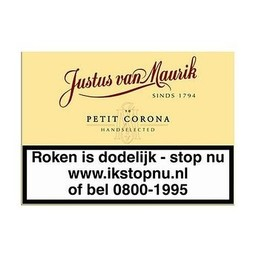 Justus van Maurik Petit Corona 10 PCS