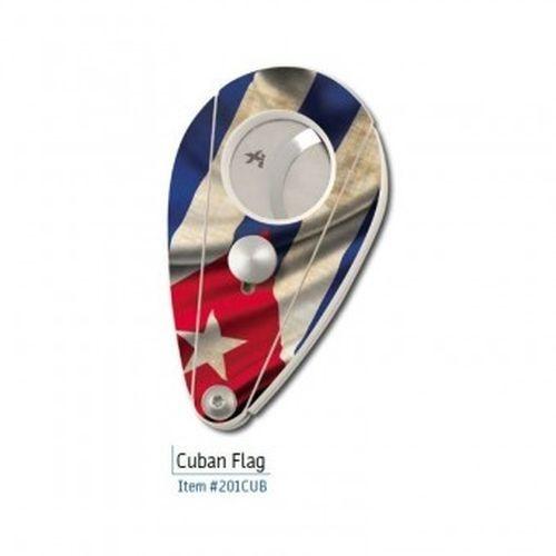 Xikar Sigarenknipper Nylon Fiber wit met Cuba vlag