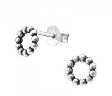 Kywi Jewelry Oorsteker Cirkel bolletjes 925 zilver