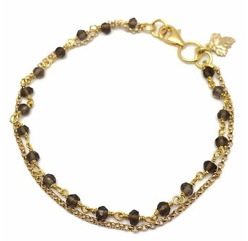 Kywi Jewelry Armband Donna Rookkwarts Goud