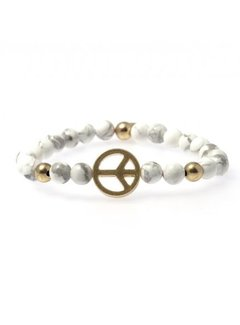 Bud to Rose BudtoRose armband Preston Marble Gold
