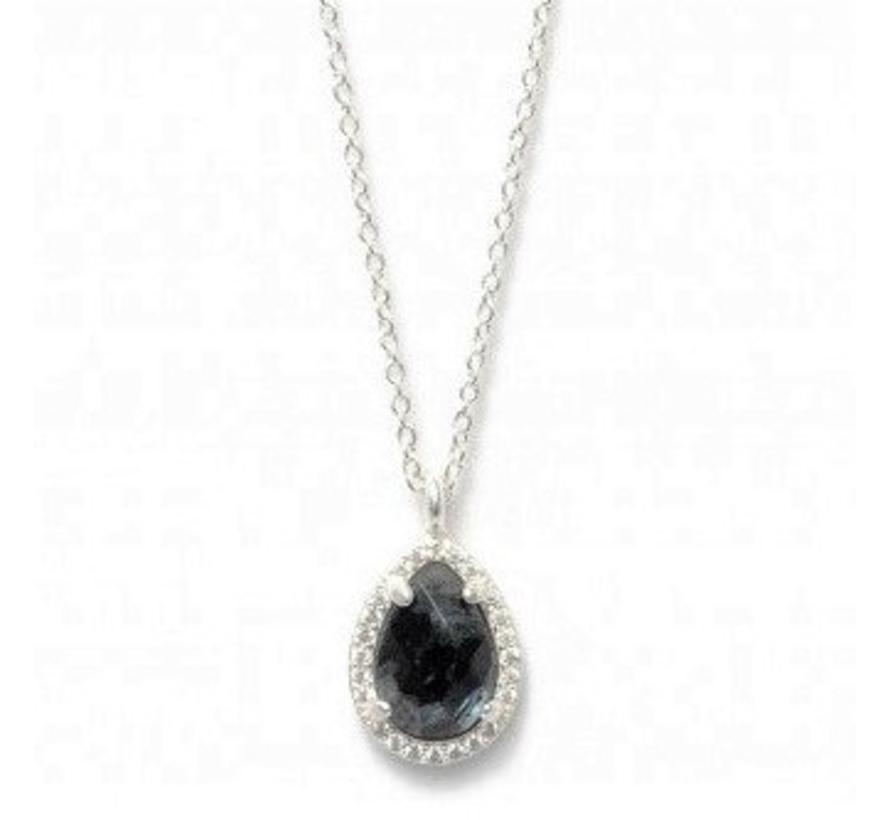BudtoRose ketting Drop Stone Neck 40 silver