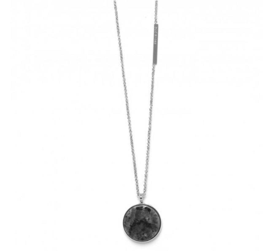 BudtoRose ketting Rock neck 75 Steel Marble