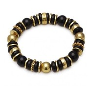 Bud to Rose BudtoRose armband Cornelia black gold