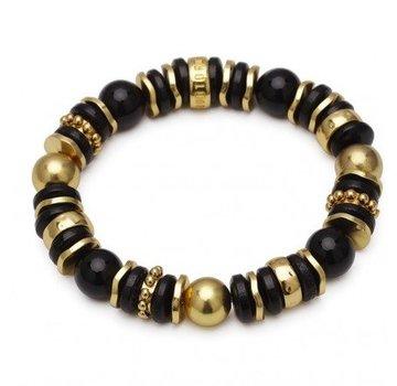 Bud to Rose BudtoRose armband Cornelia black gold